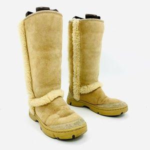 Ugg Sunburst Tall Tan Boots Womens Sz 6 - 4099